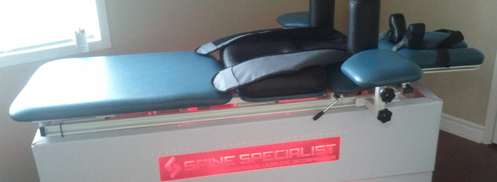 Spine Specialist Non-Surgical Laser Disc Decompression Table